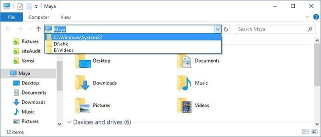 Nhập đường dẫn vào thanh địa chỉ Windows Explorer