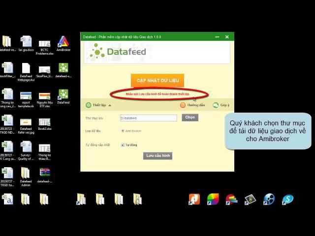 Chọn thư mục để tải dữ liệu cho Amibroker