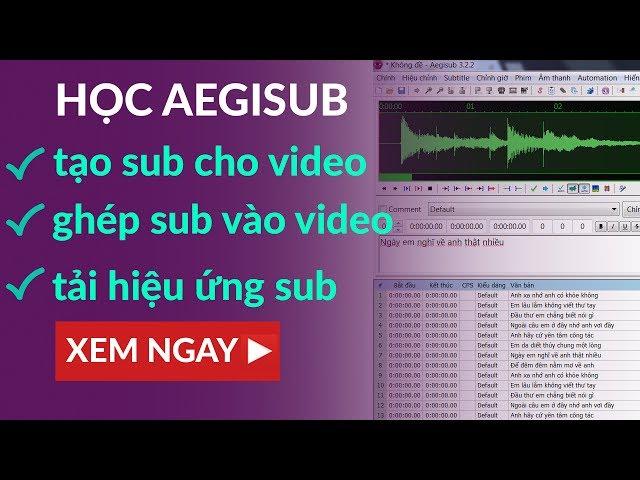 Giới thiệu phần mềm Aegisub