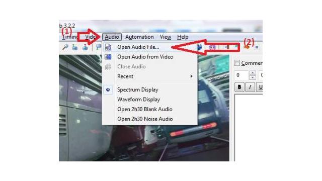 Mở file audio có chứa phần âm thanh của video
