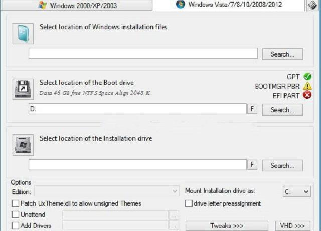 Giao diện phần mềm WinNT sau khi cài đặt hoàn tất