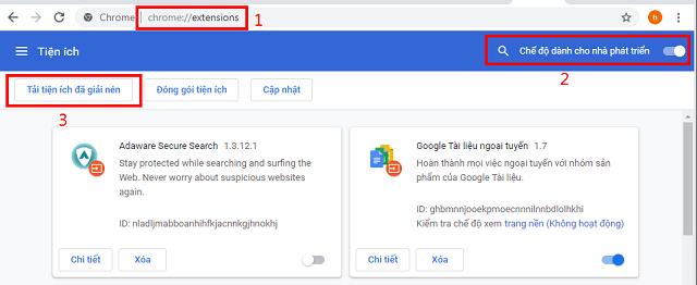 Mở trình duyệt Chrome