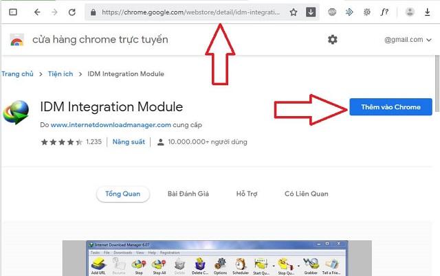Thêm IDM vào Chrome